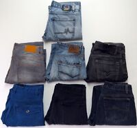 04 - MENS BULK LOT OF 7 PAIRS JEANS MAMBO MAVI GU FACTORIE ZARA MAN ALL Sz 32