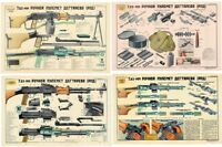4 POSTER SET of Soviet Russian RPD 7.62x39 Light MachineGun LQQK & BUY NOW!