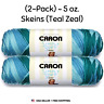 Yarn (2-Pack)Caron Simply Soft Ombre 100% Acrylic 5 oz. Skeins Teal Zeal