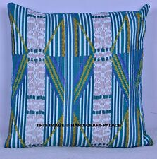 Abstract Indian Print Quilted Cushion Cover Pillows Bohemian Shams Throw 40 Cm