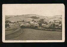 Somerset WIVELISCOMBE view from Ashbeers inc railway station c1920/30s? PPC