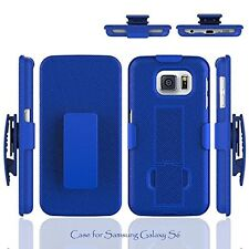 Rugged Slide Armor Stand Case Belt Clip Holster SAMSUNG GALAXY G920 S6 Blue