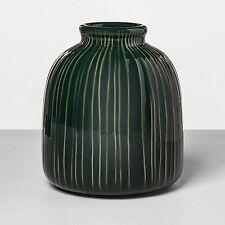 Stoneware Textured Vase Green