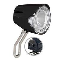 Union LED Scheinwerfer 20 Lux UN-4255 für Nabendynamo Lampe schwarz inkl. Halter