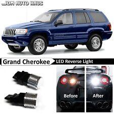 White High Power 3157 Reverse Backup LED Lights Bulb Fits Jeep Grand Cherokee WJ