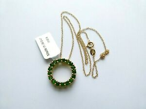 Gemporia/Gems TV Gold Flash Sterling Silver 2.05ct Chrome Diopside  Necklace