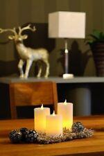 Hellum LED Kerzen mit Echtwachskerzen 3er-Set batteriebetrieben Hellum 572056