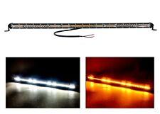 "30"" White Amber Slim High Output Dual Color Osram LED Mini Light Bar Offroad 12v"