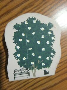 2 SIDED SPRING FLOWERING TREE ACCESSORY PIECE CAT'S MEOW VILLAGE BUSH & BENCH 95