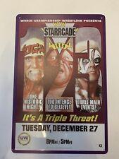 Wcw Wwf Starcade Ppv Poster Tin Sign Sting Vader Hulk Hogan Ljn Hasbro Elite Wwe