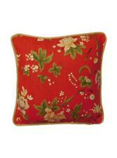 Vintage GP & J Baker Queen Anne Chinese fabric cushion cover red GET 20% OFF