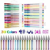 Gel Pens, Gifort Glitter Gel Pens 30 Colors Set for Kids Girls Boys and Adult,