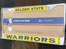 1 Golden State Warriors Chrome Laser Cut License Frame