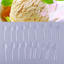 200pc Mini Clear Plastic Spoons Wedding Party Ice Cream Cake Disposable Flatware