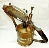 Vintage Brass Paraffin Blow Torch - Blow Lamp old