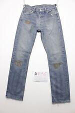 Levi's 501 custom boyfriend jeans usato (Cod.D1036) Tg.44 W30 L34