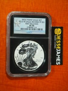 2013 W REVERSE PROOF SILVER EAGLE NGC PF70 FIRST RELEASES BLACK CORE