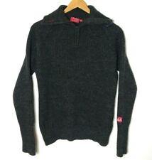ULVANG 100% wool jumper, Half zip ski sweater midlayer skiing top, medium unisex