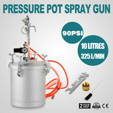High Pressure Pot Air Paint Spray Gun 2.5 Gallon Industrial Painting Painter HOT