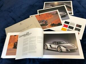 New Rare Sealed Porsche Carrera GT Hardback Brochure in Presentation Box