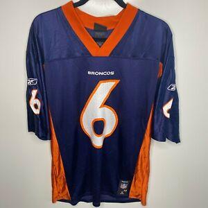 Reebok Football Jersey Men's Size M Blue Denver Broncos #6 Jay Cutler