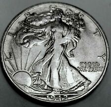 1942-S Walking Liberty Half Dollar 90% Silver US Coin
