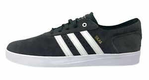 Adidas SILAS VULC Mens Size 8 Sneakers Suede Shoes Gray White Skate Footwear