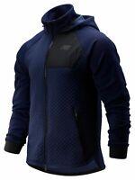 New Balance Men's NB Heat Loft Full Zip Hooded Jacket Navy