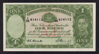 Australia R-31. (1949) One Pound - Coombs/Watt..  King George VI..  EF - Crisp