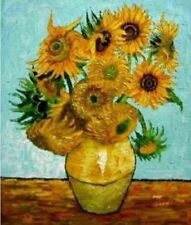 ZOPT56 100% Handpainted sunflower home ART OIL PAINTING ON CANVAS