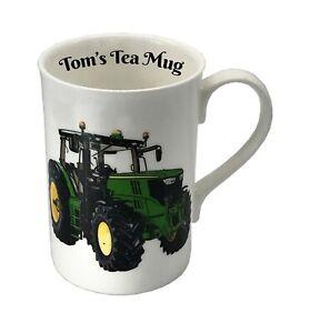 BN Boxed Personalised John Deere Fine Bone China Mug, Tractor Mug With Name