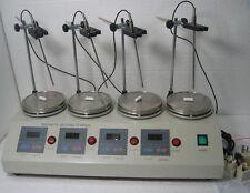 4 Heads Multi unit Digital Thermostatic Magnetic Stirrer Hotplate mixer ya#