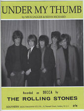 The Rolling Stones - Under My Thumb - Sheet Music - Mick Jagger Keith Richard