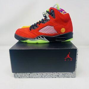 "Jordan Retro 5 ""What the"" Size 10 Og Box Nike Air CZ5725 700"