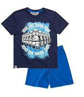 Boys Official Lego Star Wars Navy / Blue Short Sleeve Summer Pyjamas PJs