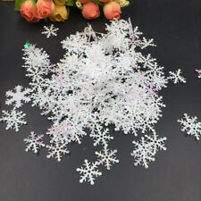 30/300pcs Christmas Ornament White Plastic Christmas Snowflake Tree Window Decor