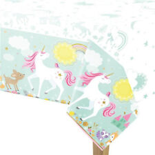 MAGICAL UNICORN PLASTIC TABLECOVER BIRTHDAY PARTY SUPPLIES TABLECLOTH