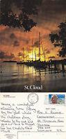 1992 SUNSET OVER St CLOUD FLORIDA UNITED STATES COLOUR POSTCARD