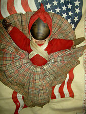 """Rare early Babyland Rag, antique cloth, Topsy-Turvy double-sided doll 12"""""""