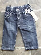 Baby Girl's Sprout Butterfly Navy Jeans Size 0