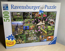 "Sally Smith 'Fairy Houses' 500 Piece Jigsaw Puzzle 27""x 20"" Ravensburger 2014"