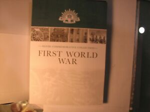 First World War Silver Commemorative Collection Coin Case with First Coin.