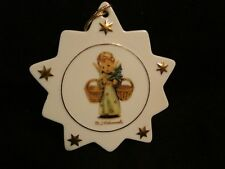 Vintage Hummel Porcelain Star Tree Ornament Angel w/ Tree & Baskets- new w/ COA