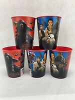 Set of 5 Star Wars Movie The Force Awakens Chewbacca 16 oz. Plastic Cup - 2015