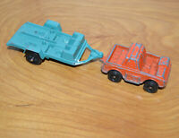 Vintage TOOTSIETOY SPACE UTILITY TRUCK & MOTORCYCLE TRAILER Metal Toy Retro