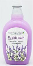 Spa Naturals Luxury Collection Bubble Bath w/Shea Butter Lavender Dreams 24oz i3