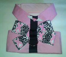 2276-2277 Watermelon Pink Bow Handmade Dog Vest harness M