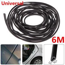 6M Black Car Door Edge Moulding Trim Strip Scratch Guard Protector Cover Mold