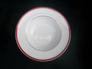 Minton. SATURN. Red. Rimmed soup plate. Diameter 8  inches