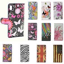 Magnetic Flip Stand PU Leather Cases Covers For Sony Xperia M2 Z2 E1 Z1 Z Z1 Min